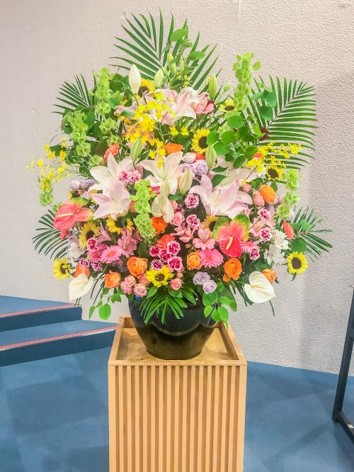 福岡 花屋 お祝い スタンド花 一段